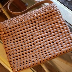 Valerie Stevens Small Leather Weave Shoulder Bag